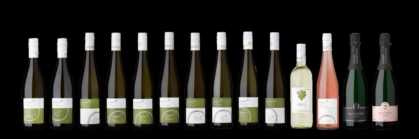 Übersicht Weine Shop Weingut Müller Grossmann