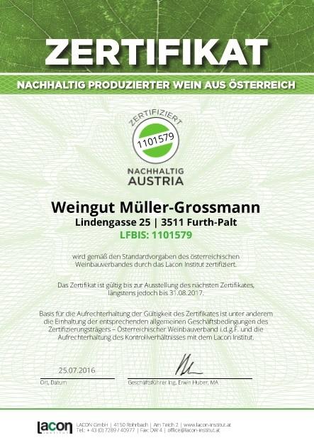 Zertifiziert nachhaltig